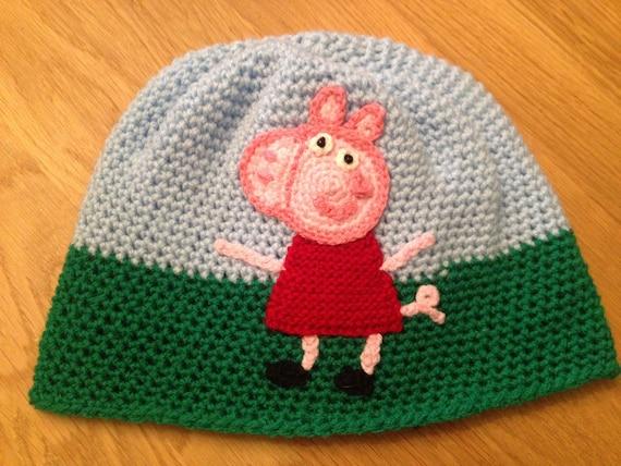 Handgemachte Peppa Pig Häkeln Peppa Pig Kind Hut Peppa Pig Etsy