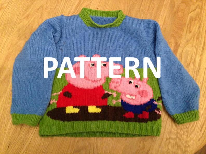 dd76d0cfa3ec Peppa and George Pig Sweater Jumper Pullover Pattern PDF