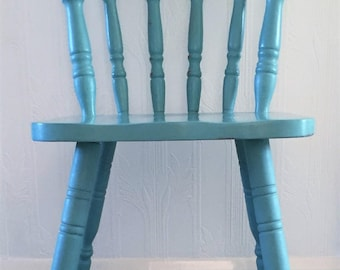 Pine chair, upcycled, Annie Sloan chalk paint, Provence