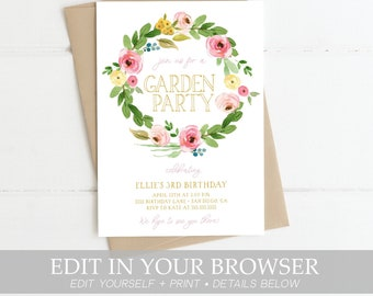 Spring Invitation Etsy
