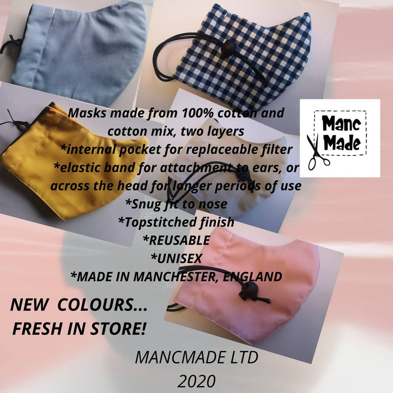 Reusable Fabric Face masks...MADE IN MANCHESTER image 0