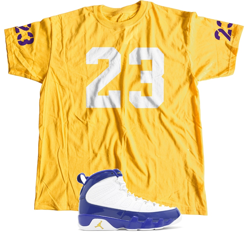 finest selection 74d8d 40df3 New T-Shirt to Match Nike Air Jordan Retro 9's KOBE BRYANT PE