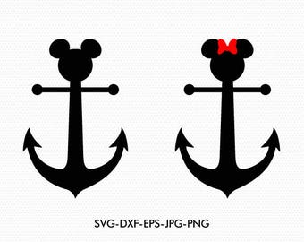 image regarding Mickey Anchor Printable named Mickey anchor ears Etsy