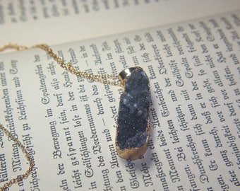 A c h a T necklace chain agate strangles Large Gilded