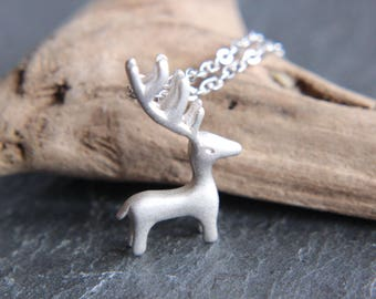Deer Bambi Deer Necklace Sterling Silver Real Silver