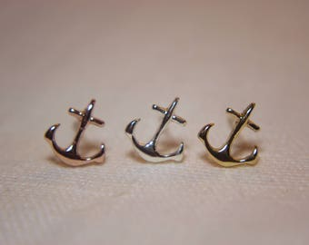 Anchor Maritim anchor Earrings in silver, gold