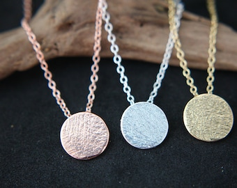 Circle Karma Circle Necklace Gold plated, silver plated or in pink gold