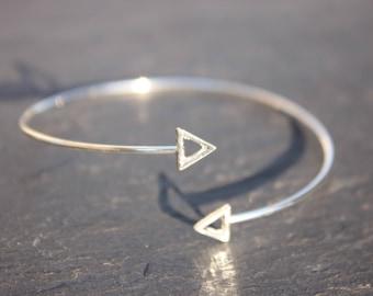 Triangle Bracelet Silver Shiny triangle
