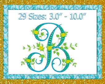 letter b embroidery fancy vine monogram embroidery b embroidery monogram floral b monogram floral monogram machine embroidery designs