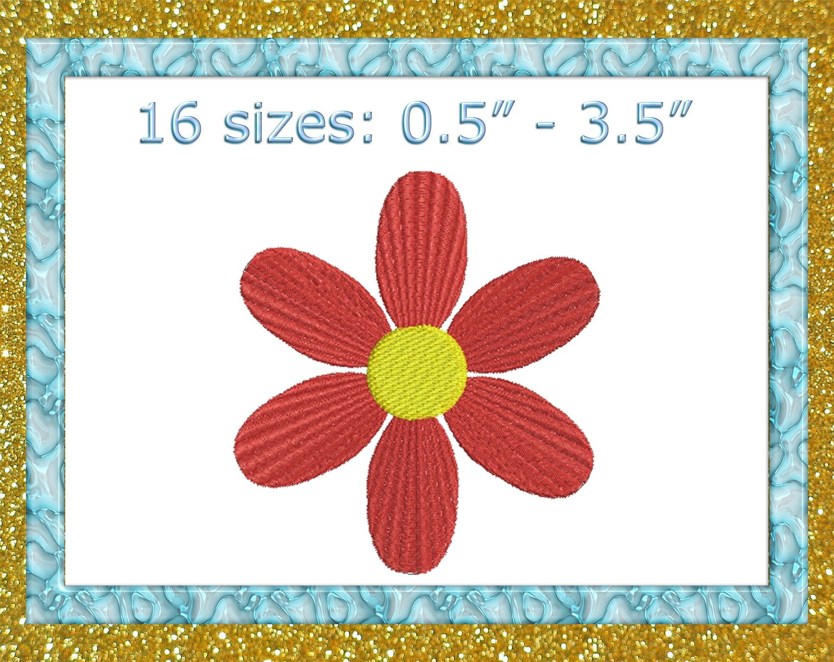 Tiny Flower Embroidery Design Flower Mini Embroidery Design Etsy