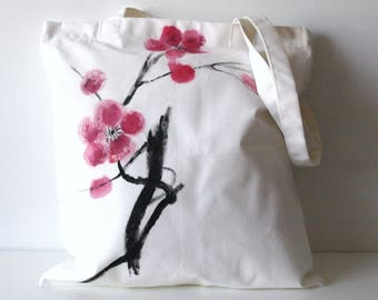 Tote Bag branch in flower