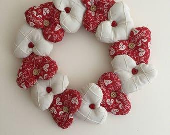 Skandi wreath, Christmas wreath, heart wreath,