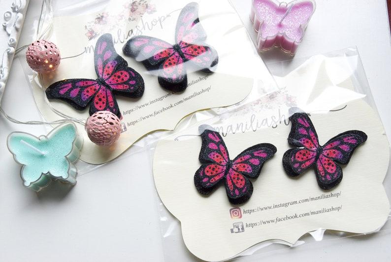 Three sets Butterflies shoe clips bridesmaids shoe wedding
