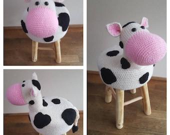 Dierenkuk Cow/crochet animal stool cow