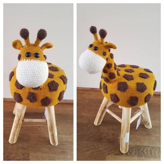 Dierenkruk Giraffecrochet Animal Stool Giraffe Etsy
