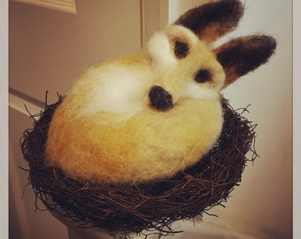 Felted Fox in Basket