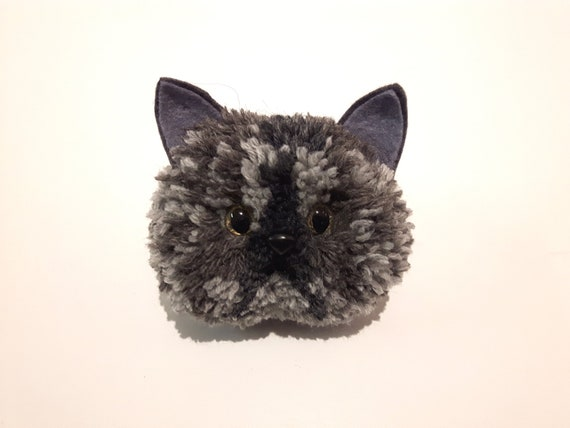 Grey Persian Cat Ornament Handmade with British Wool Cat Gifts