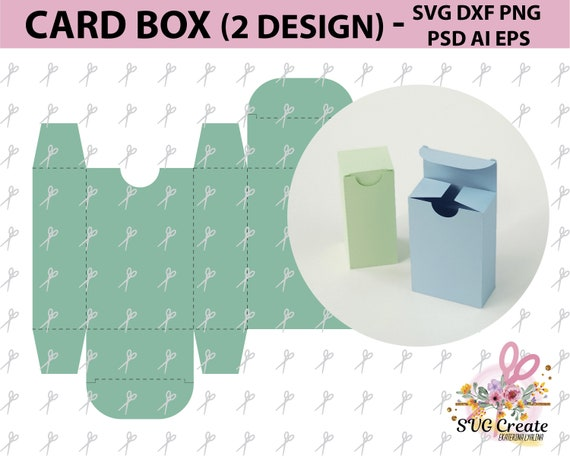 card box template svg favor paper cut papercutting diy paper etsy