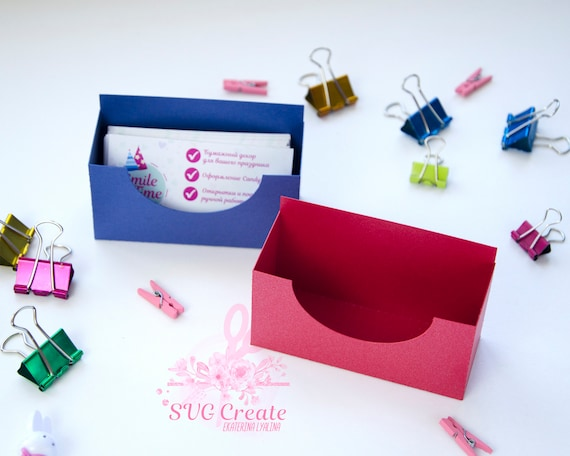 Business Card Holder Template Stand Paper Organiser Box Pattern Paper Cut Papercutting Svg Box Cut Your Own