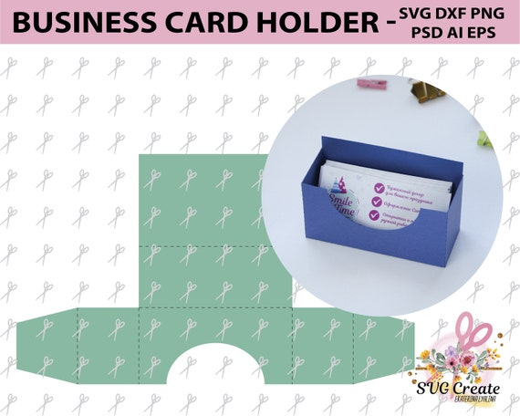 Business card holder template stand paper organiser box etsy image 0 reheart Image collections