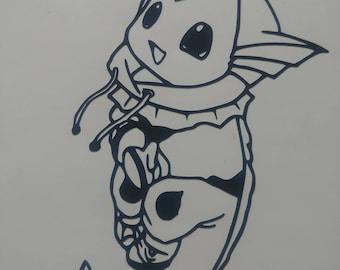Eevee in a Vapeon Hoodie