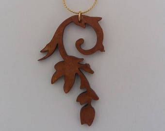 hanging Wood carved by Corkjewelery