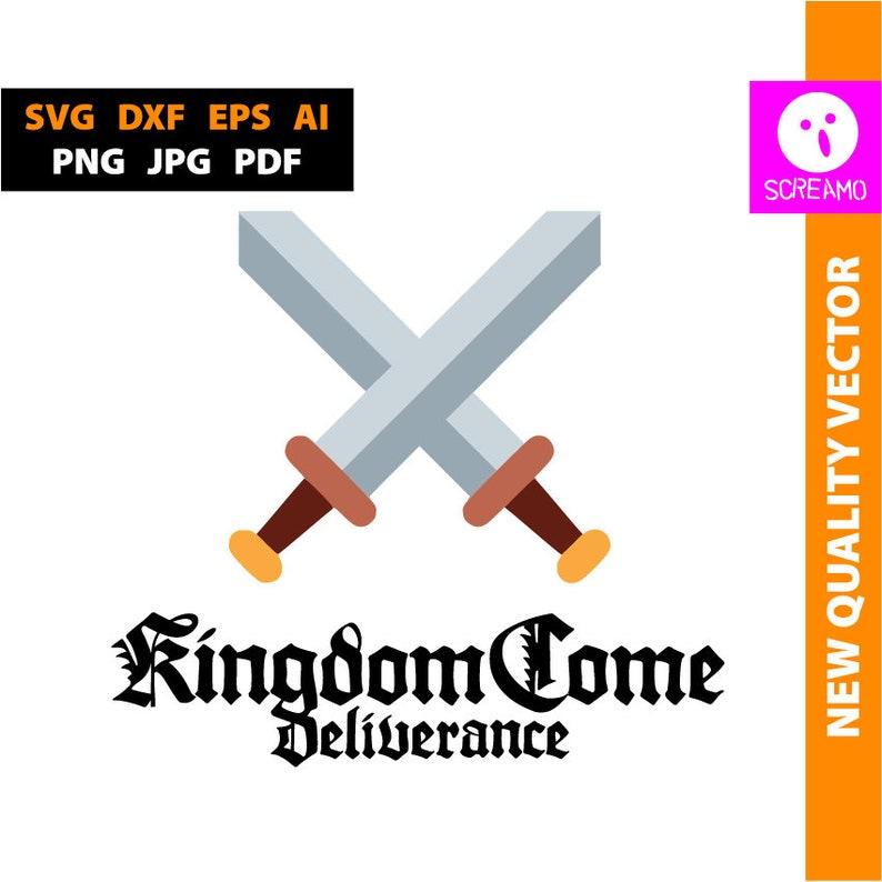 Kingdom Come Deliverance Svg Cut Files Clipart Vector Logo Print Files Svg Rpg Game Logo Svg Cricut Silhouette