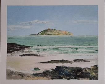 "Fresh Swimmimg Giclée Print, Sea Swimming Series #2, 10x12"" by MAOL Art, Marie Armstrong O'Leary"