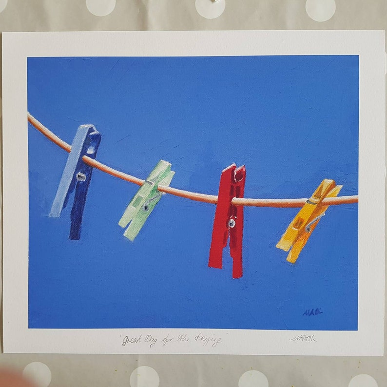 Great Day for the Drying Giclee prints by MAOL Marie Armstrong image 1