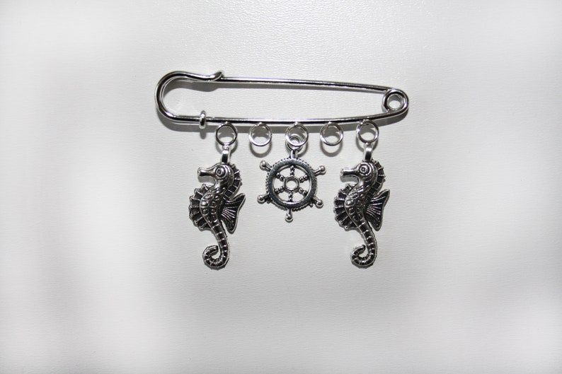 Charm Safety Pin Gothic Brooch Punk Alternative Unusual Kilt Accessory Gift for Him or Her