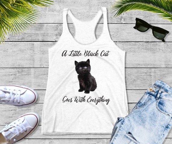 Cat Lover/'s Gift Kitty with   Women Tops Next Level Racerback Tank Top