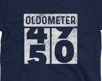 ae7871dd8 Oldometer Odometer Funny 50th Turning 50 Birthday Party Gift T-Shirt