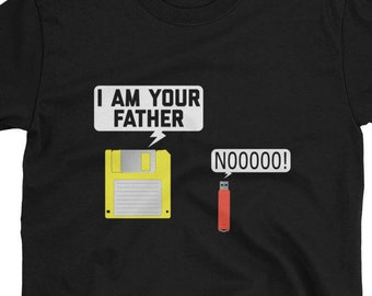 ed30ae22d Floppy Disk & USB Flash Drive Nerdy I Am Your Father Computer Geek T-Shirt