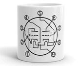 12ax7 Analog Vacuum Tube Diagram Schematic Electronics Engineer Audiophile Mug