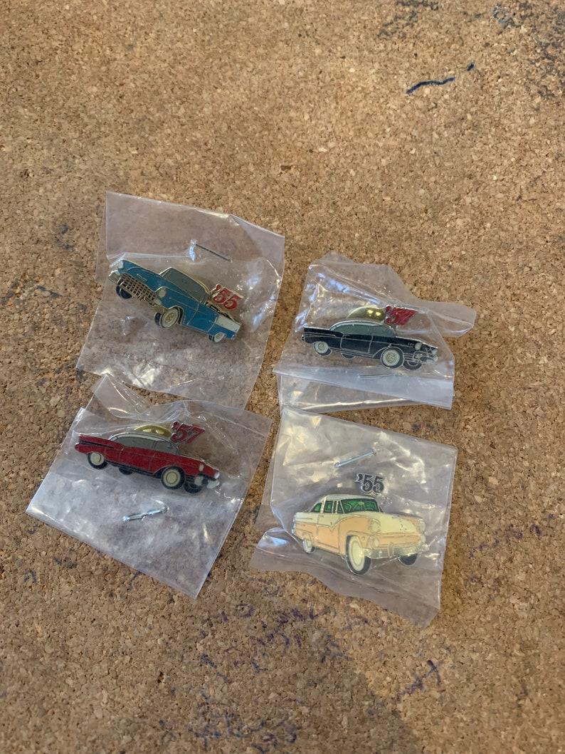 1950s Classic Car Pin Badges