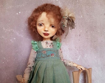 OOAK art doll doll handmade Sculpted clay doll handmade doll Collectible doll Interior doll fabric doll artist doll Gift for women