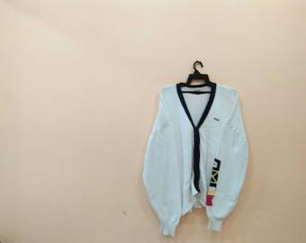 FILA biella italia cardigan sweatshirt knitwear white colour XL size