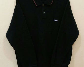 TROY BROS pullover jumper spellout black colour medium size