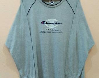 CHAMPION Shirt Long Sleeve Big Logo XL size