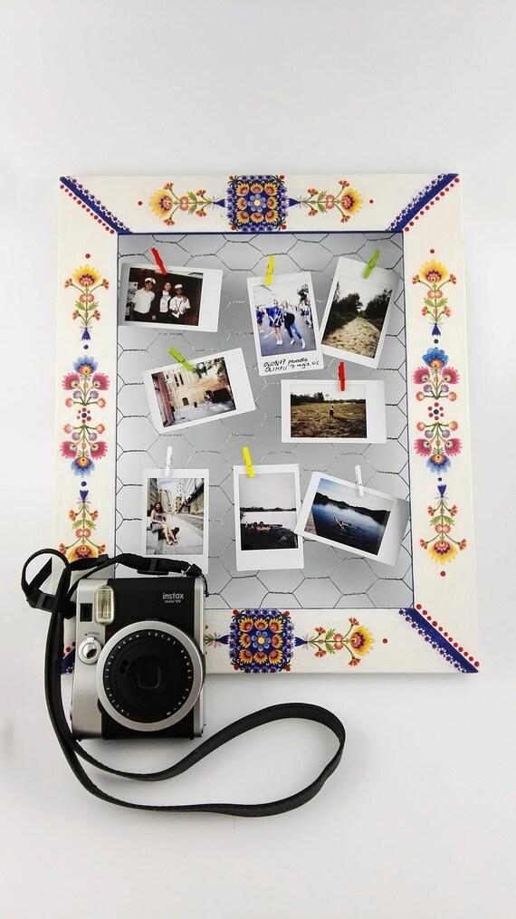 Folk Polaroid Chicken Wire Frame Instax Picture Frame Wire | Etsy