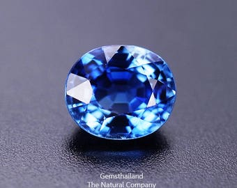 Natural sapphire 1.25 carat flawless gem grade sweet Royal blue Ceylon sapphire