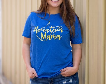 West Virginia Shirt // Mountain Mama State Shirt // WV Game Day Wear // Mountain State // Christmas Shirt for Woman