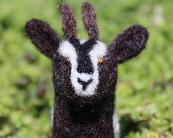 Handmade Needle Felted Goat