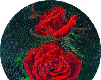 Midnight Roses Oil on Canvas