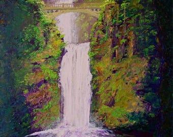 Multnomah Falls Oil on Canvas