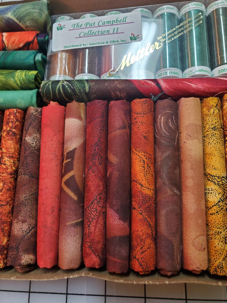 Fat Quarter Collection Impressions by Bentarex with 8 spools of matching Mettler thread collection