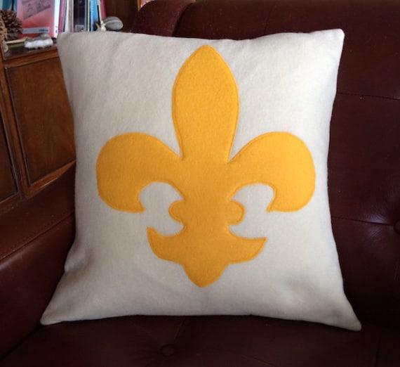 Gold Fleur De Lis Pillow Cover 16 Pillow Cover Elegant Etsy