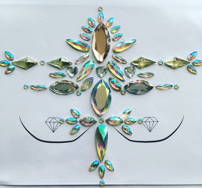 DESERT HEAT  body gems  festival gems  face gems  stick on gems