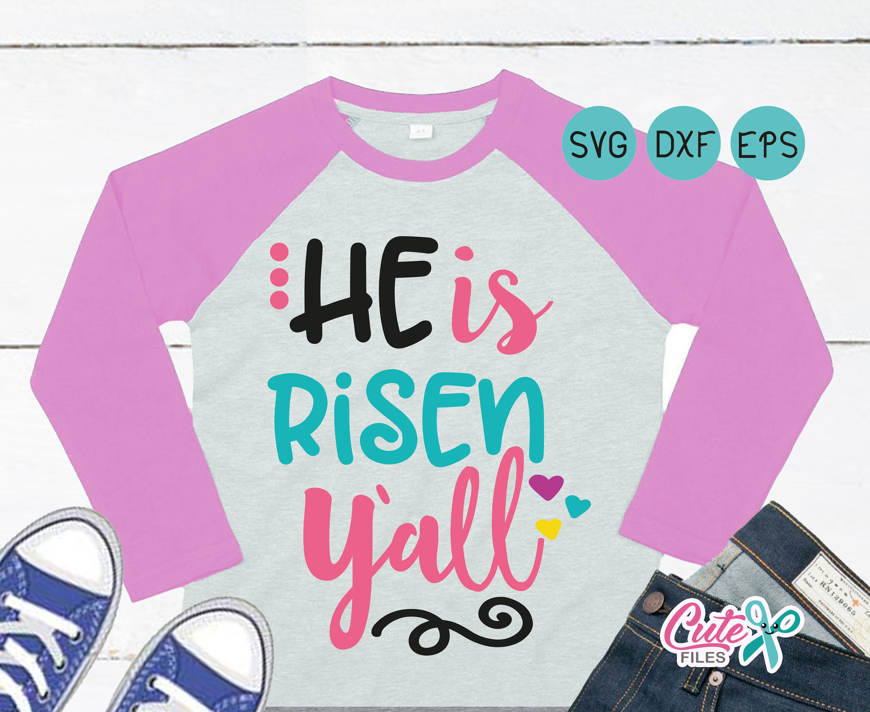 He is Risen yall svg Girly Easter saying Bible Easter svg | Etsy