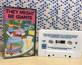 They Might Be Giants - Self Titled - Pink Album - Cassette tape- Bar/None Records
